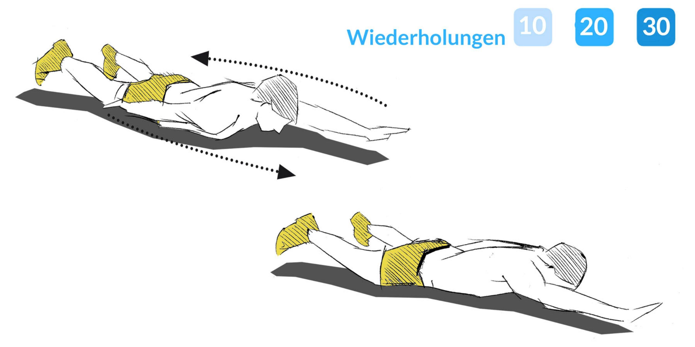 Armwechsler stärken den Schultergürtel sowie die Rückenmuskulatur.