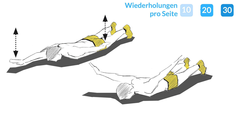 Anleitung zur Übung Armheber.