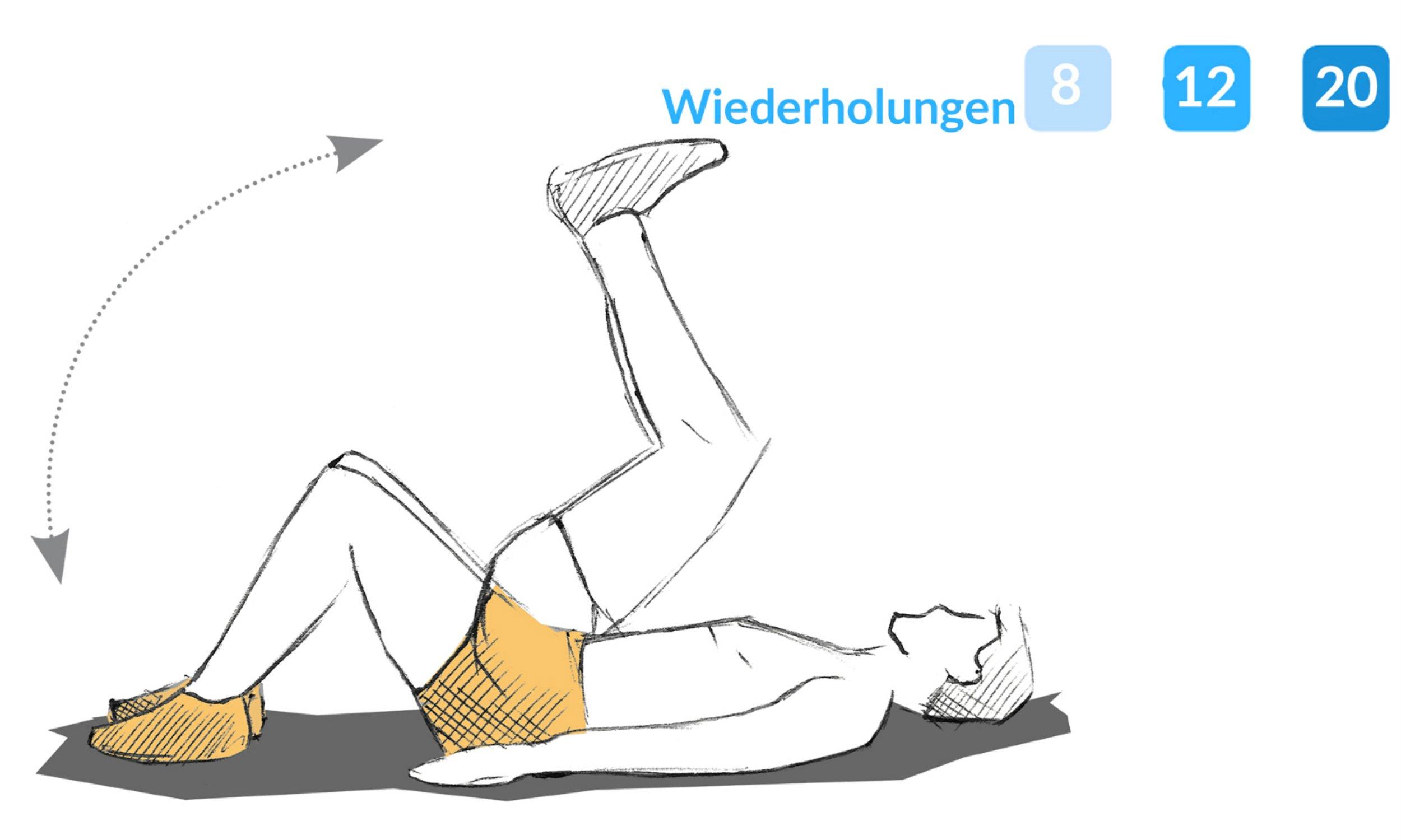 Anleitung zum Aufrollen.