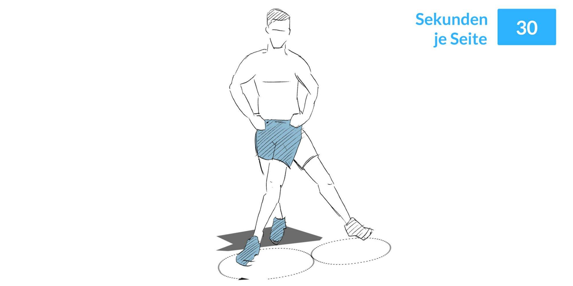 Das 8er Beinkreisen hilft, die Muskeln zu stärken und das Halten des Gleichgewichts zu üben.