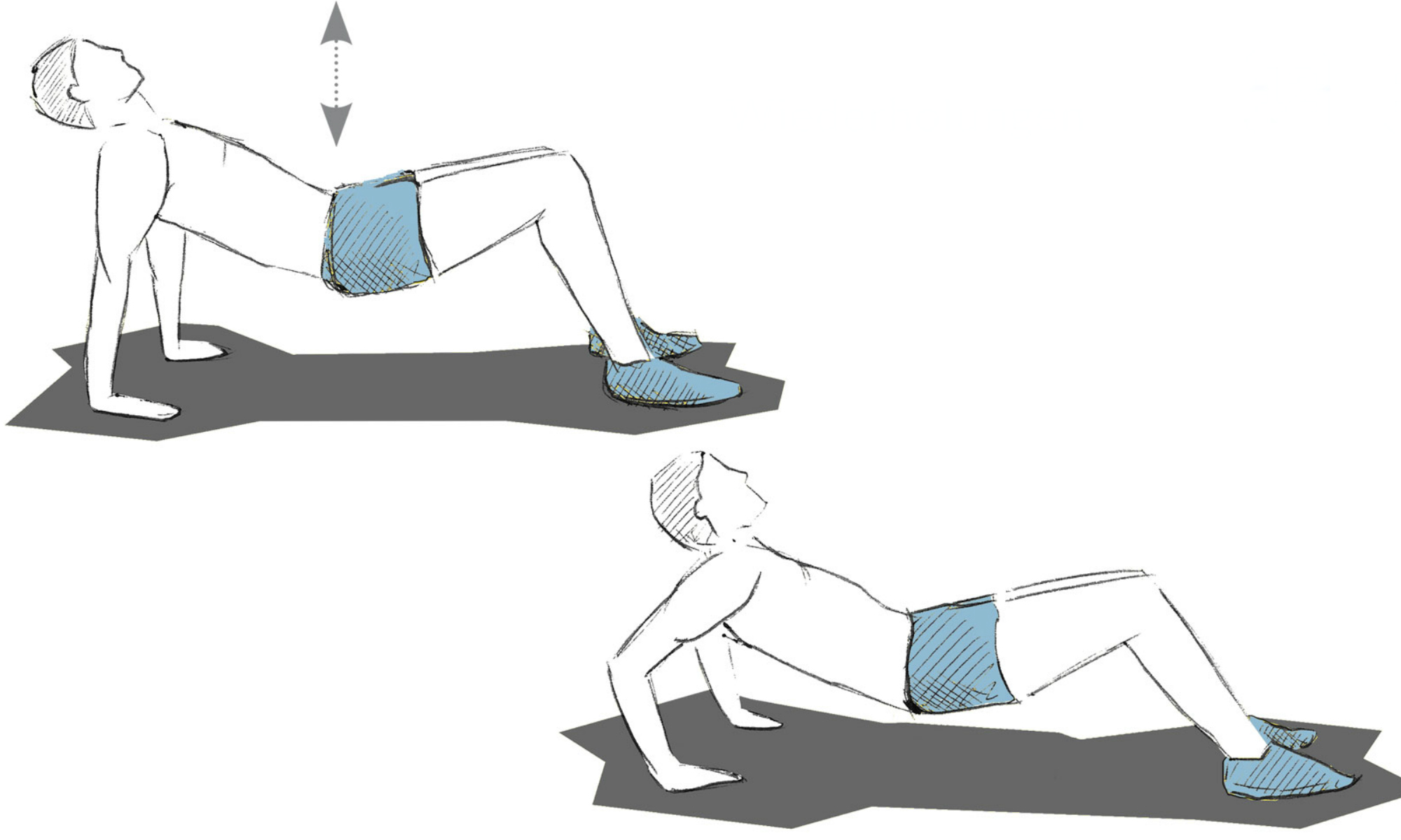 Istruzioni per il push-up all'indietro.