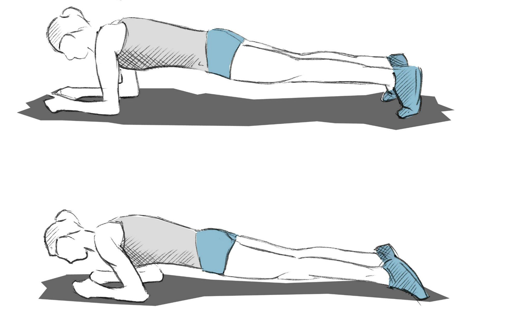 Description de l'exercice de la planche avant-arrière.