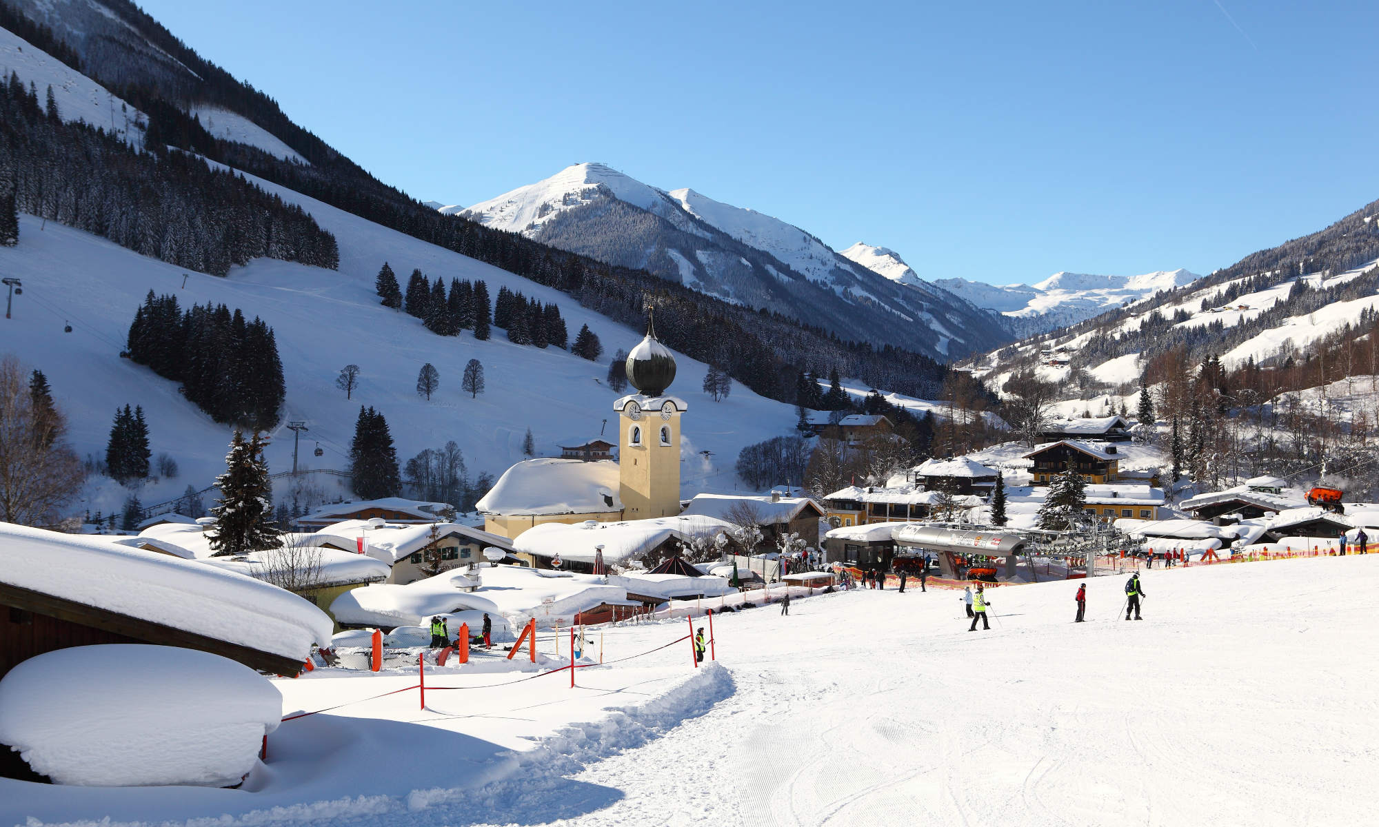 A view of Saalbach from one of the many slopes.