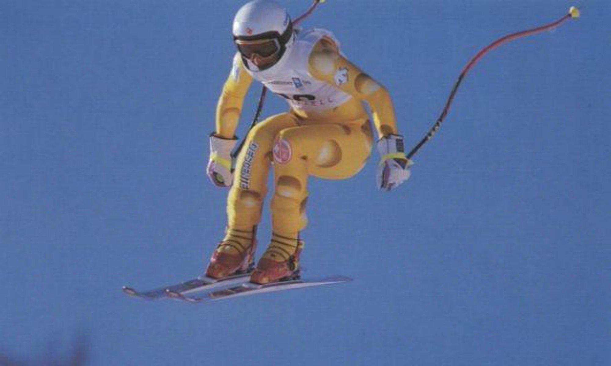 Vreni Schneider bei einem Weltcuprennen.