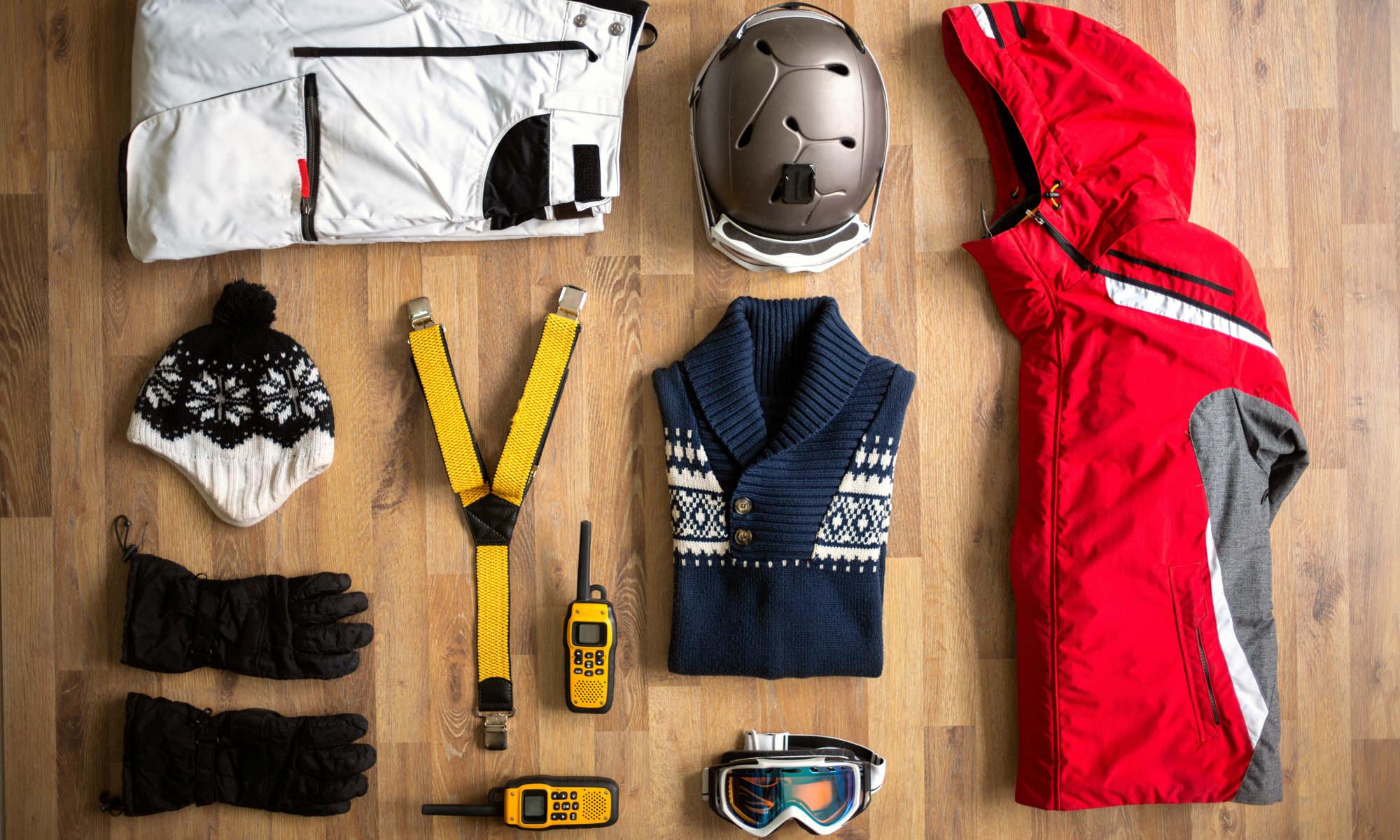 Une partie de l'équipement essentiel pour le ski.