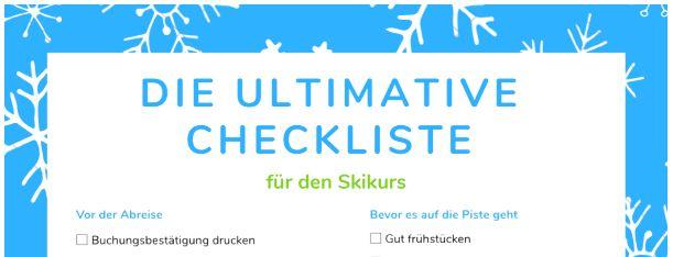 Die ultimative Checkliste