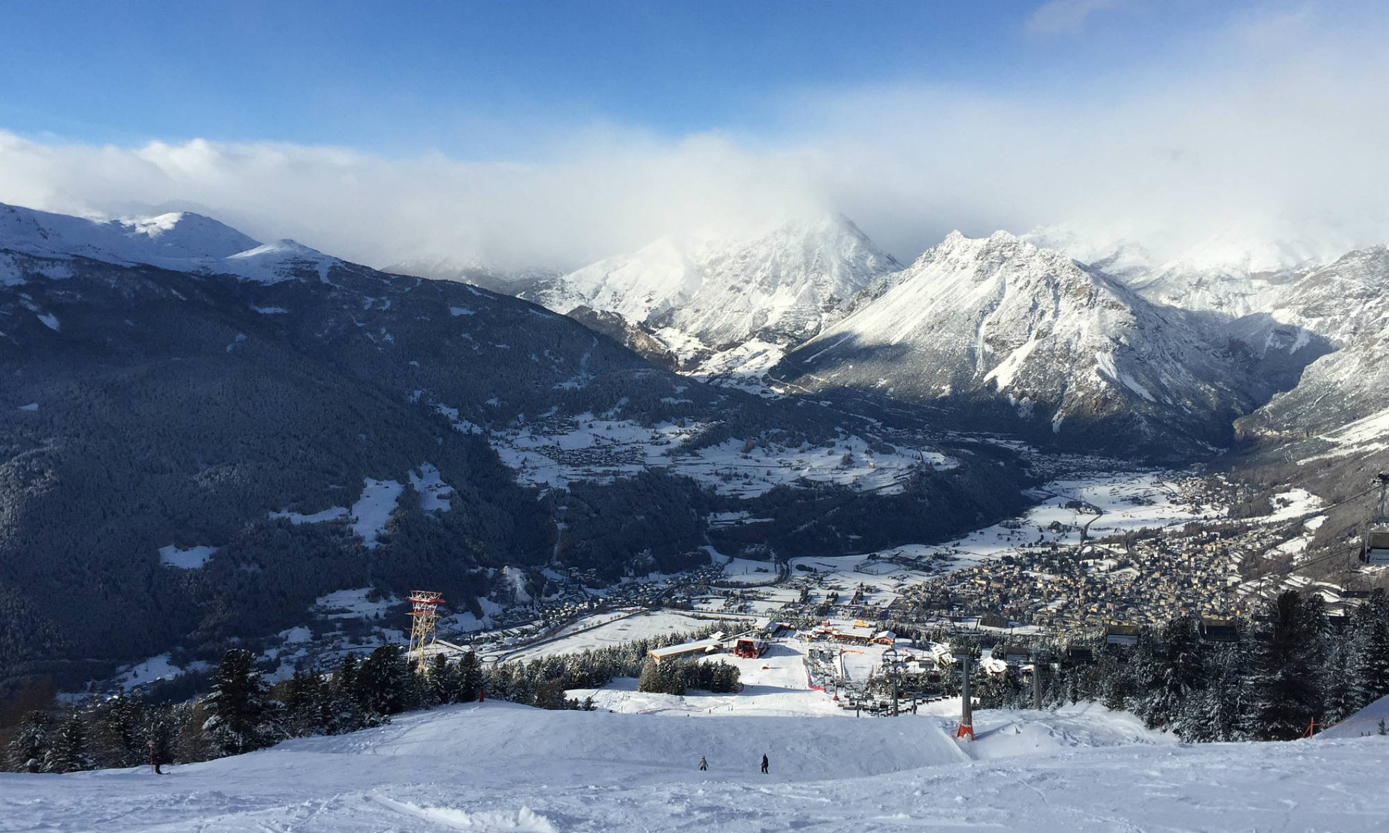 Le piste di Livigno sono lunghe e ottime per sciare.