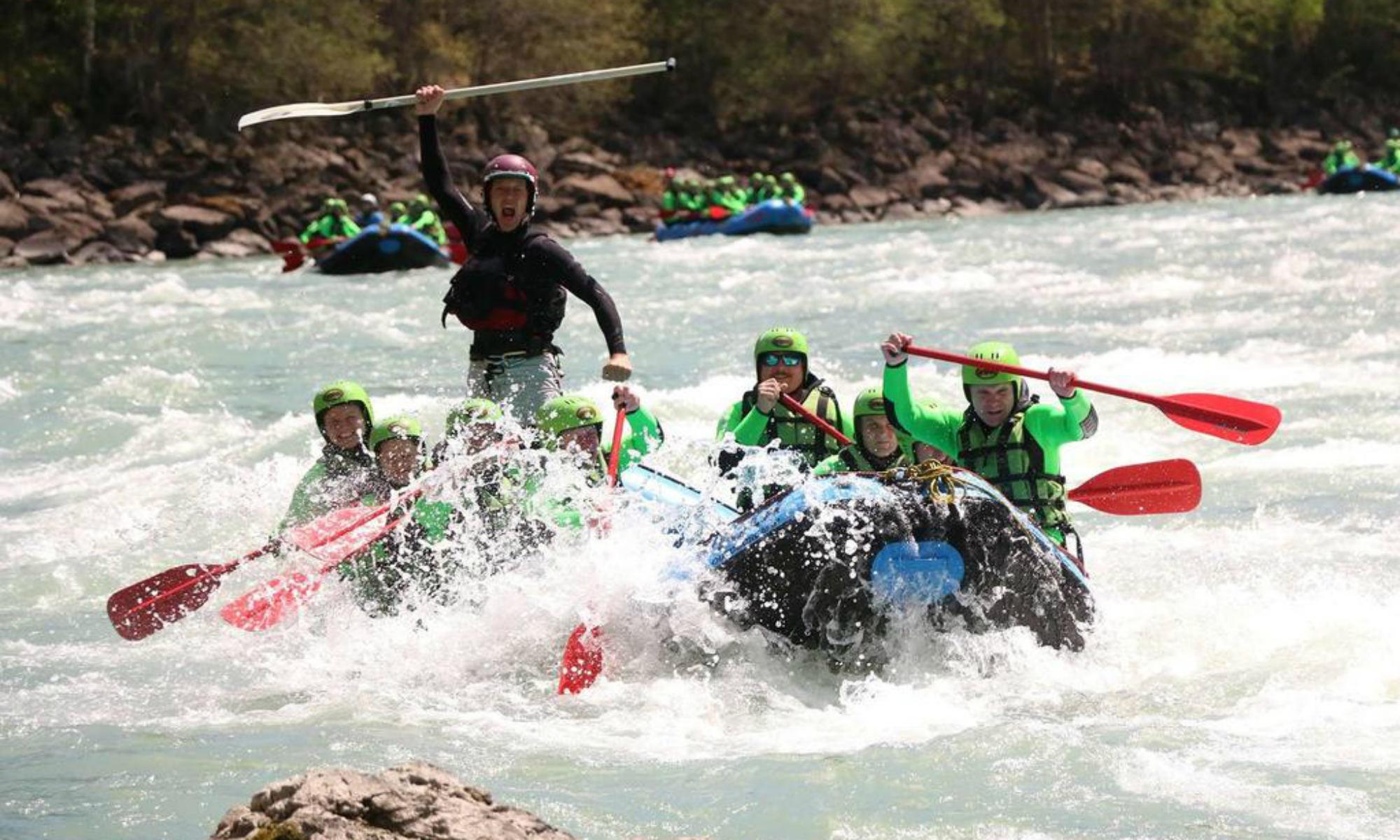 Eine Rafting Tour im Ötztal.