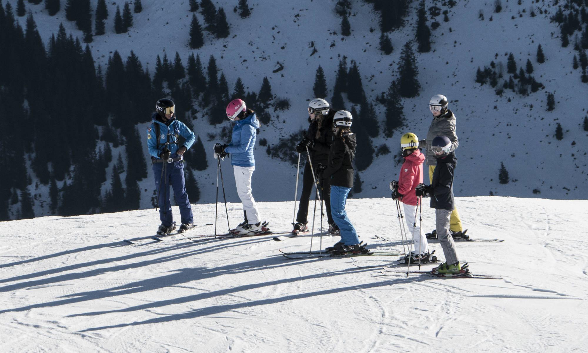 Een groep beginners op een berg.