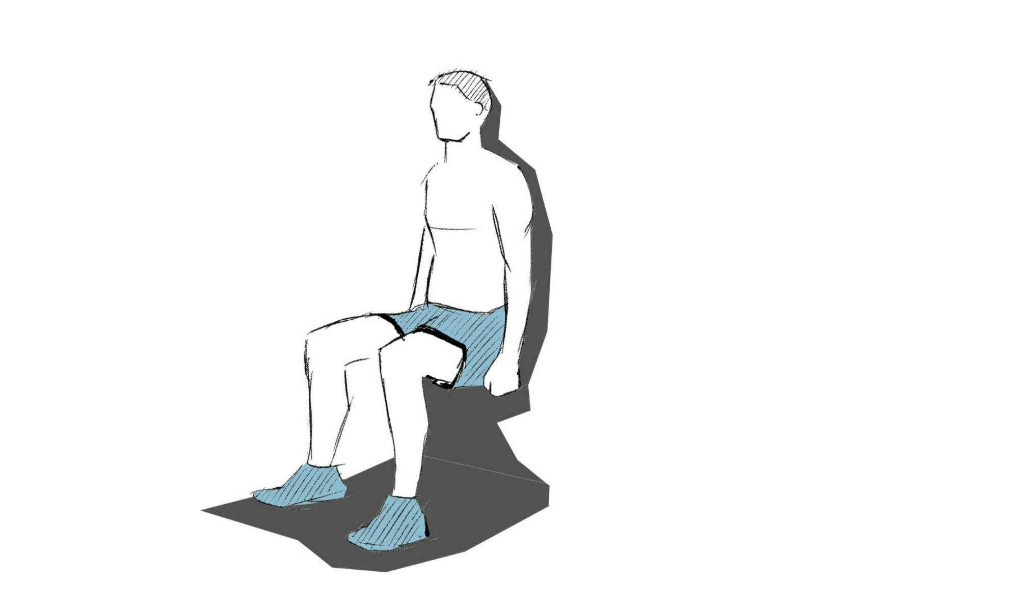 The wall squat exercise.