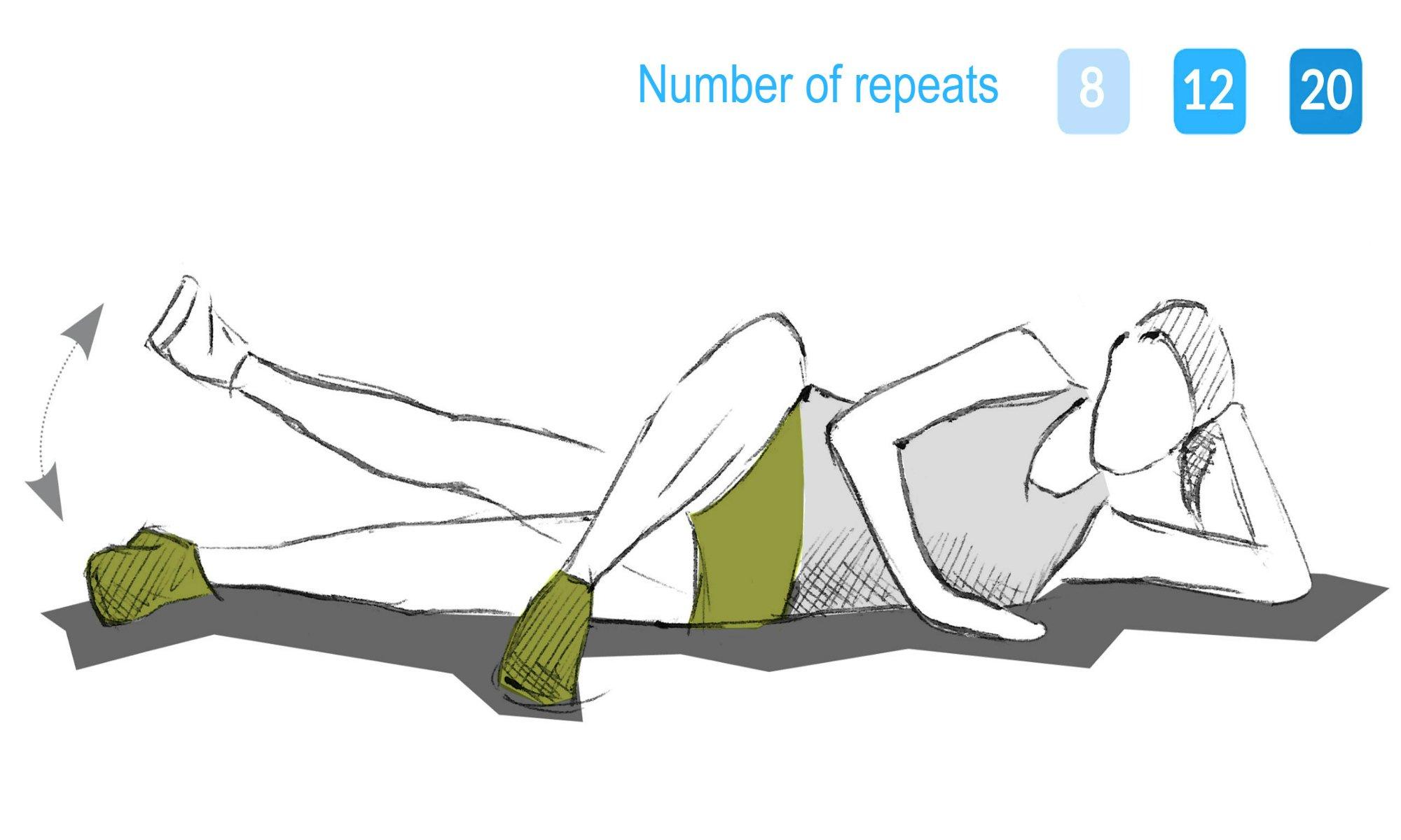 The inner leg lift exercise.