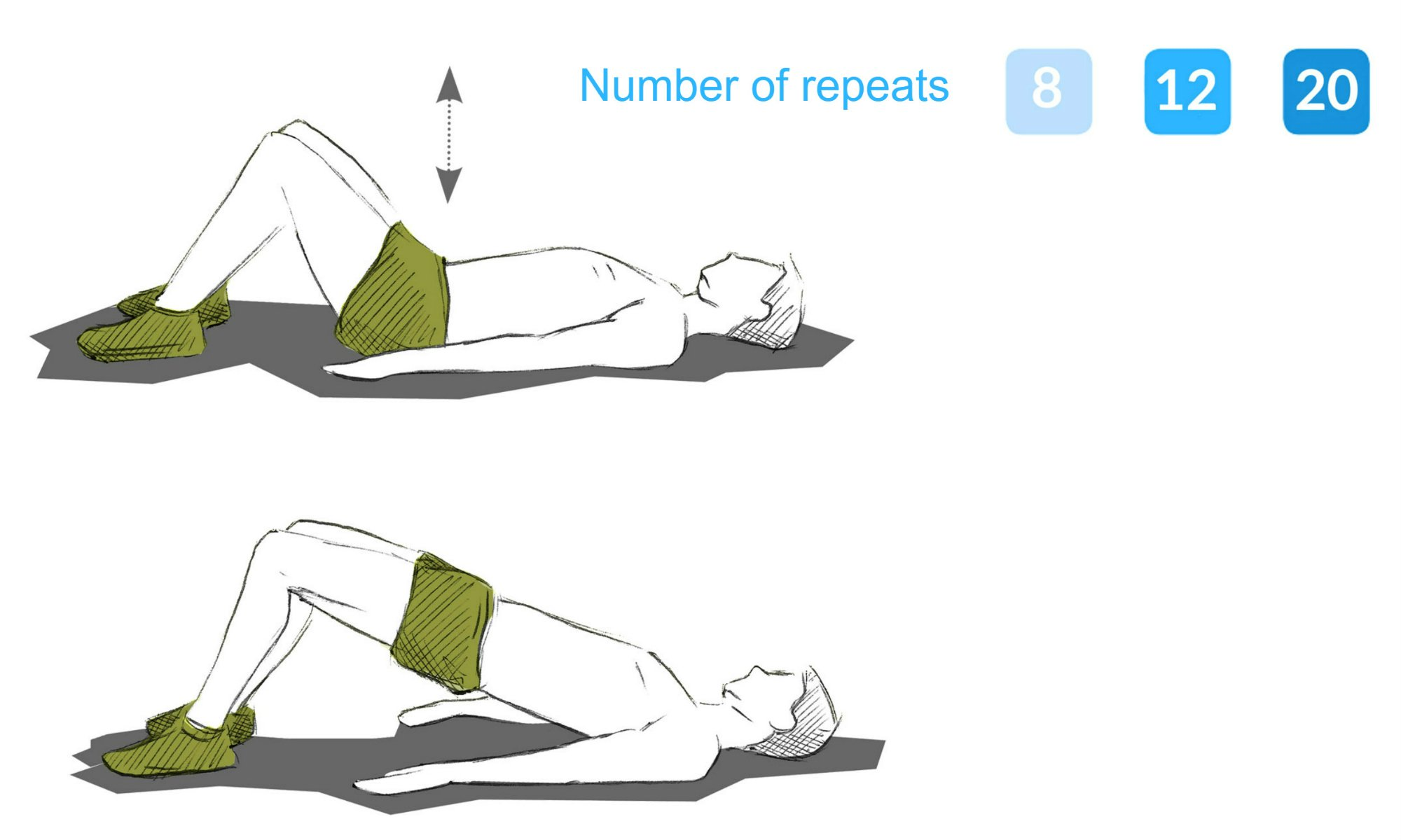 The pelvic lift exercise.