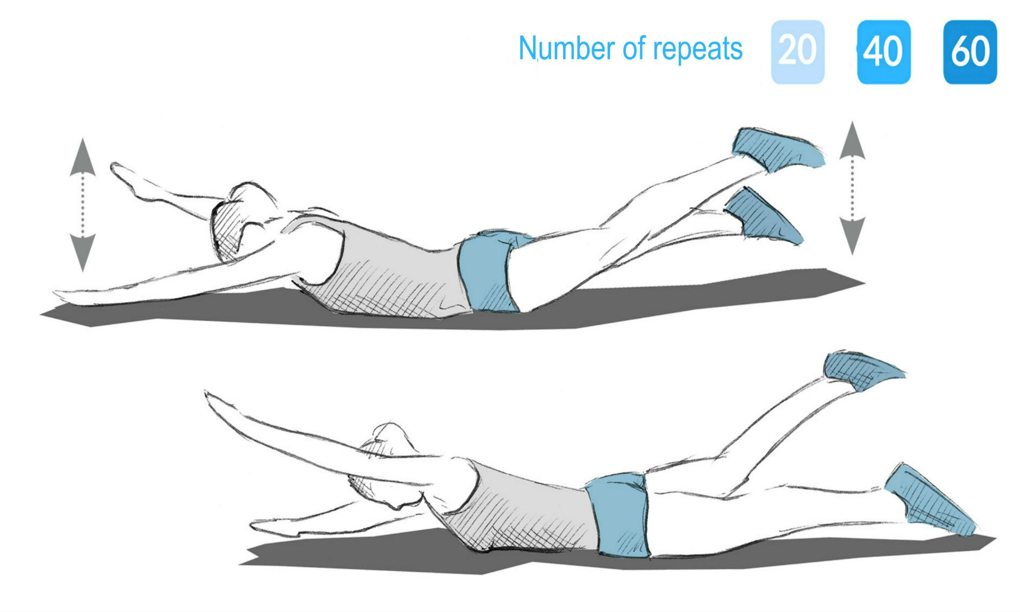 "The ""beetle"" exercise."