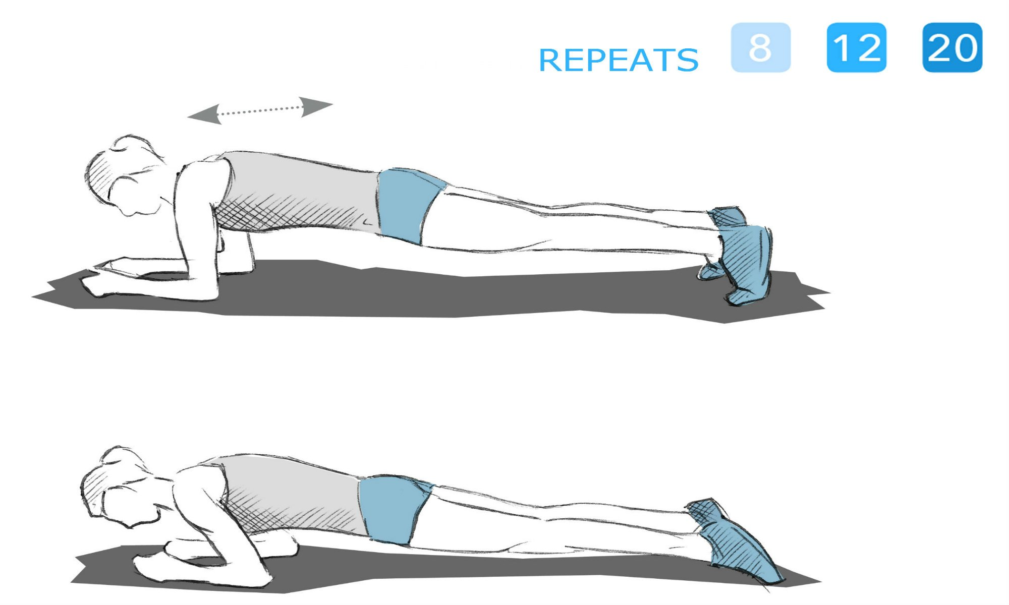 The forearm support exercise.