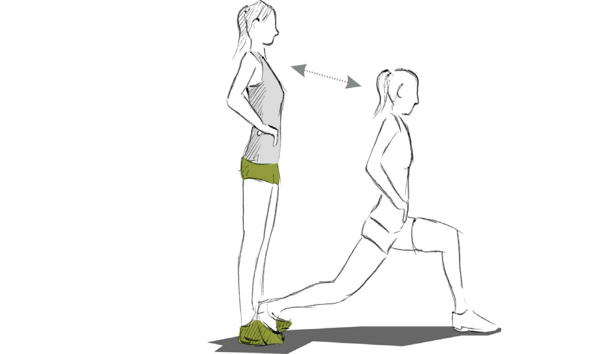 The single leg knee bend exercise.