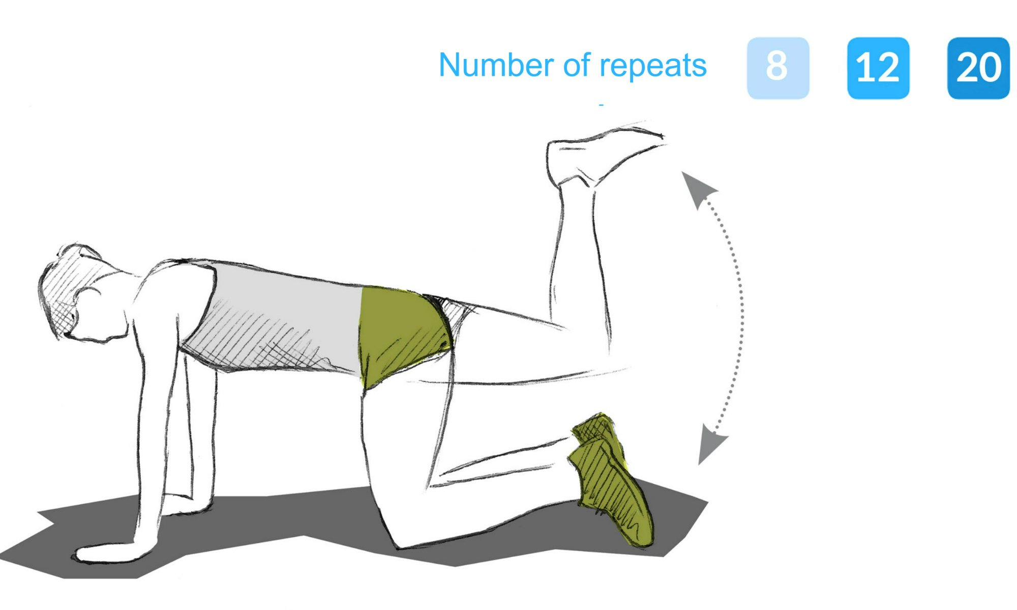 The heel lift exercise.