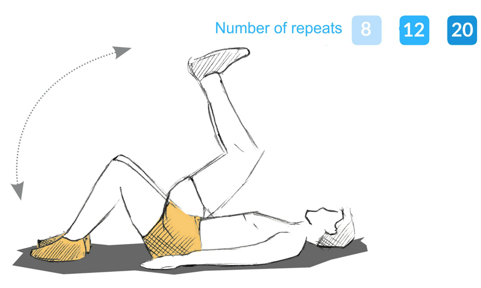 The rolling up exercise.