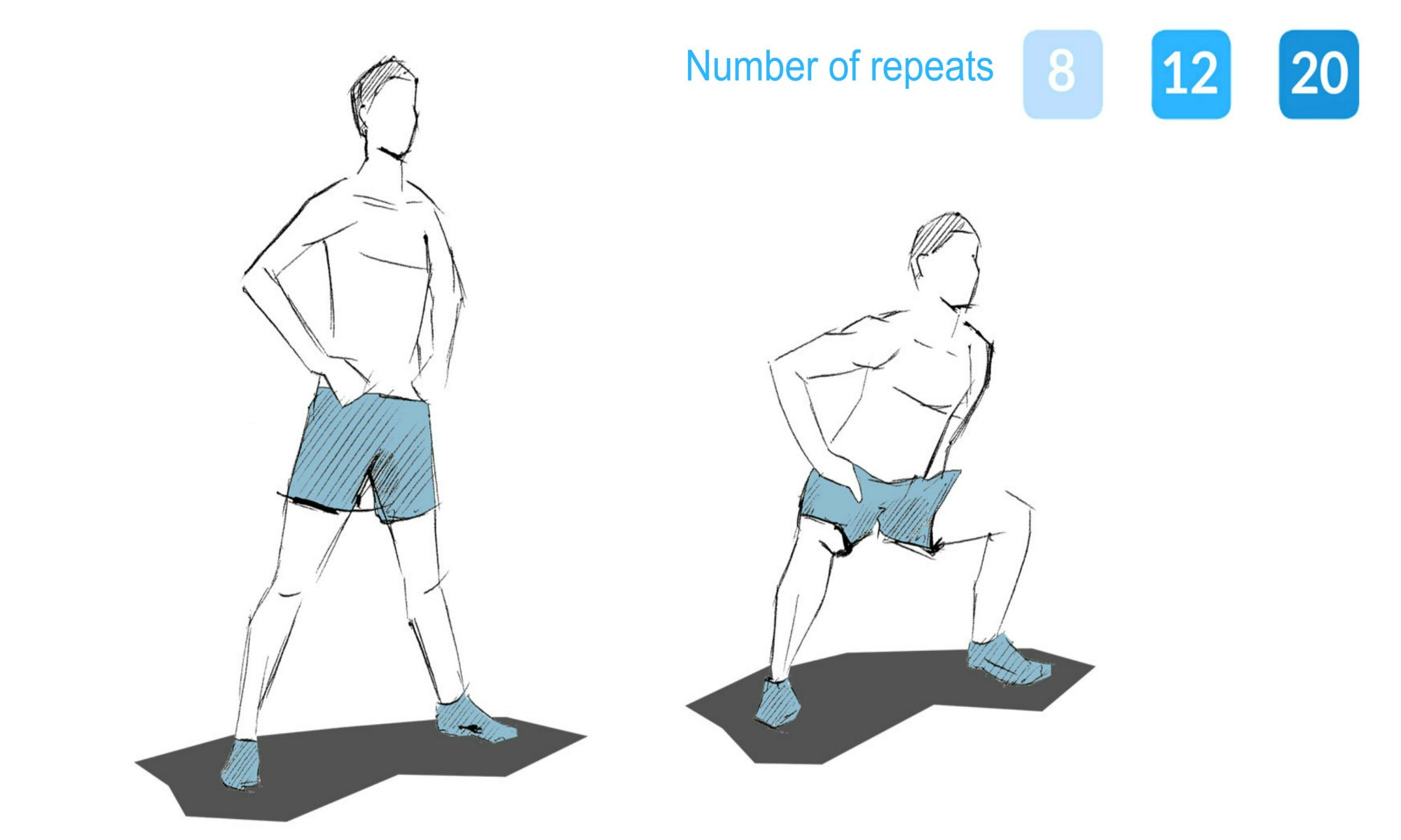 The sumo squat exercise.