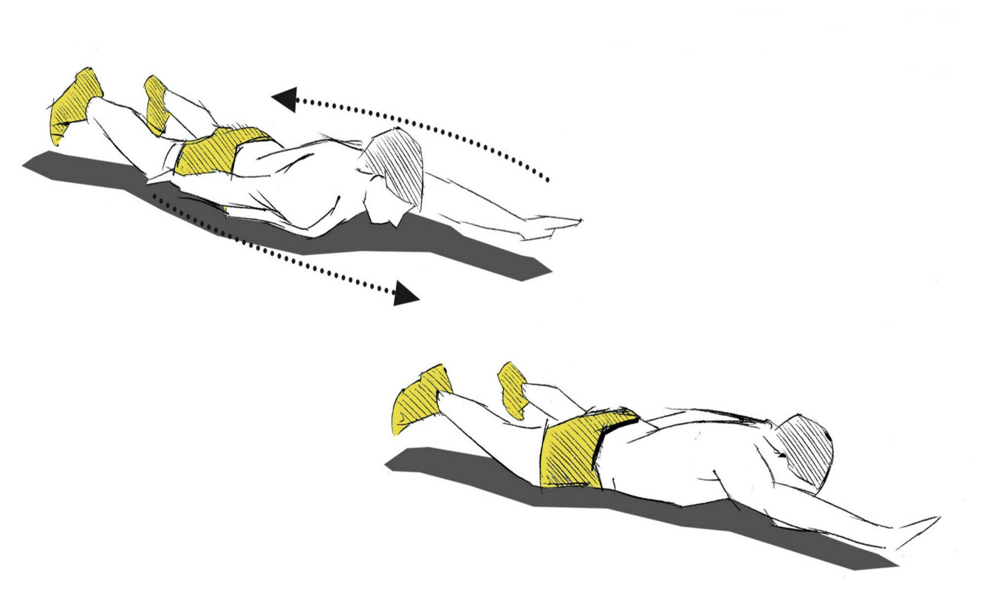 The arm changes exercise.