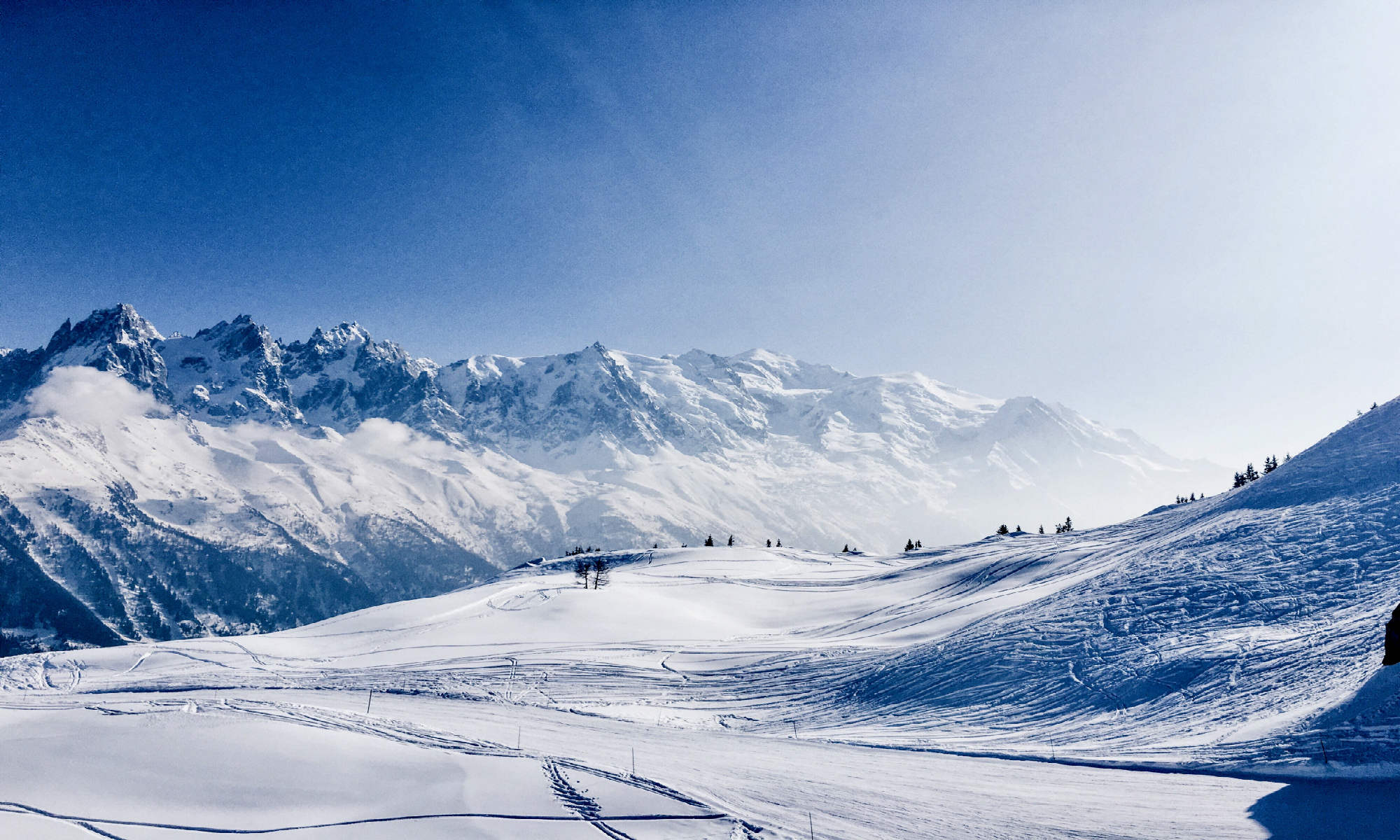 A stunning snowscape in Chamonix.