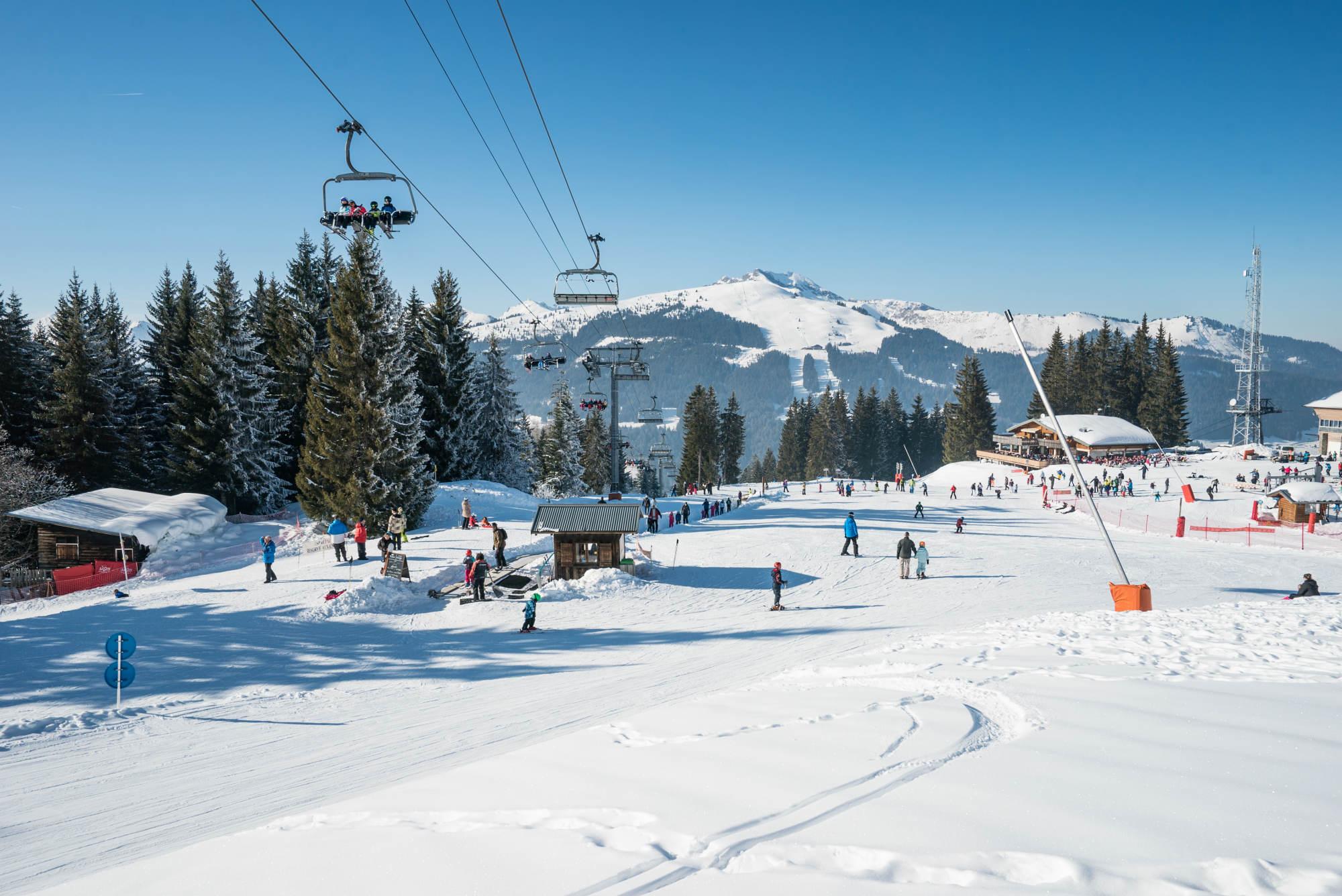 La zone débutants Les Mappys dans la station de ski Les Gets.