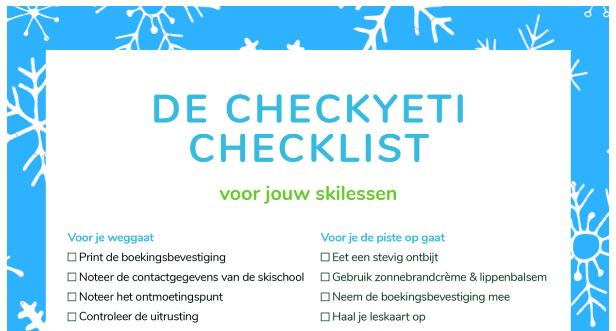 de CheckYeti checklist