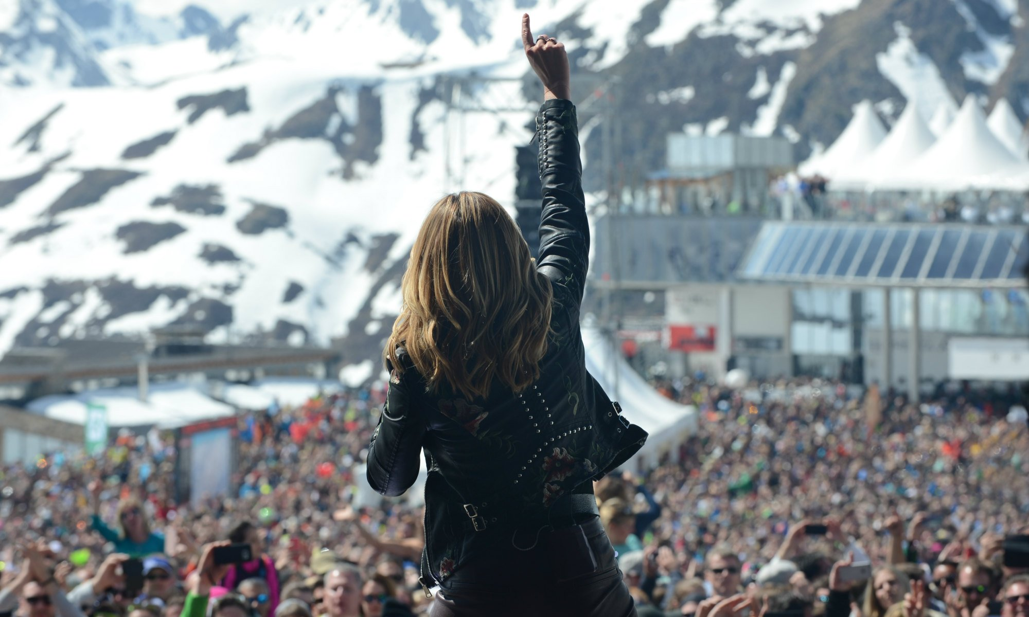 Schlagerstar Helene Fischer beim Top of the Mountain Closing Concert 2018 in Ischgl.