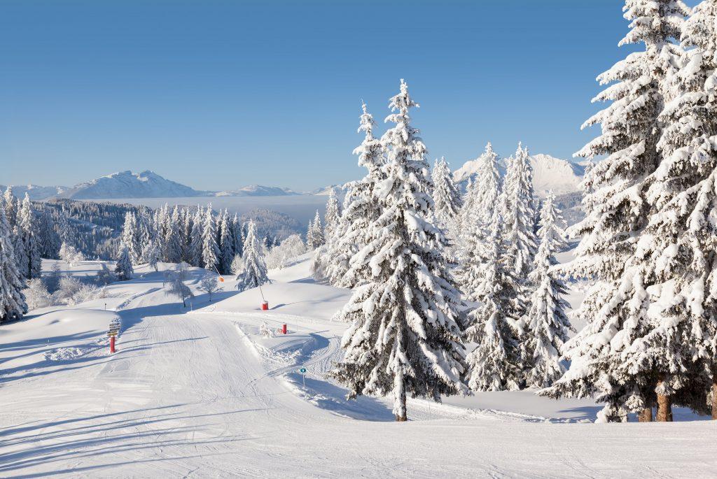 Apprendre à skier aux Gets est particulièrement facile grâce aux pistes adaptées aux débutants et aux structures pensées pour les grands débutants comme on peut le voir sur la photo.