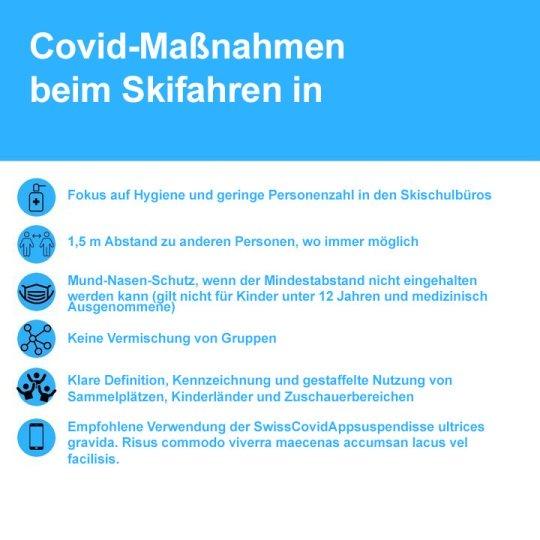 Covid-19 - Skischulen in der Schweiz: Die 6 Massnahmen um die Sicherheit von Skifahrern zu gewährleisten.
