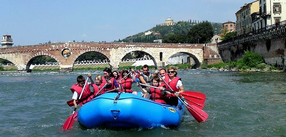 A rafting tour in Verona.