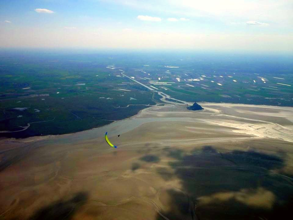 When Paragliding in Normandy, flying around the famous Mont Saint Michel is practically a must.