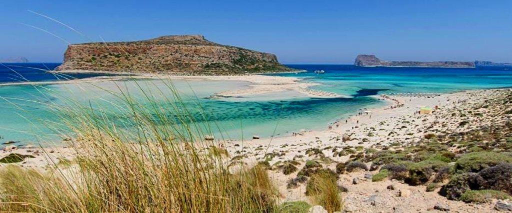 Un panorama della laguna di Balos, perfetta per lo snorkeling.