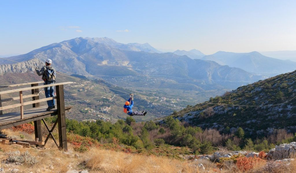 In the picture taken during the zipline in Split you can see the panorama of the entire valley.