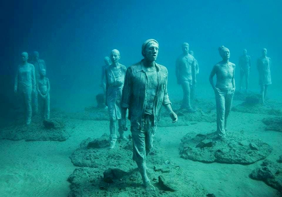 When scuba diving in Spain, divers can explore the fascinating Museo Atlantico.