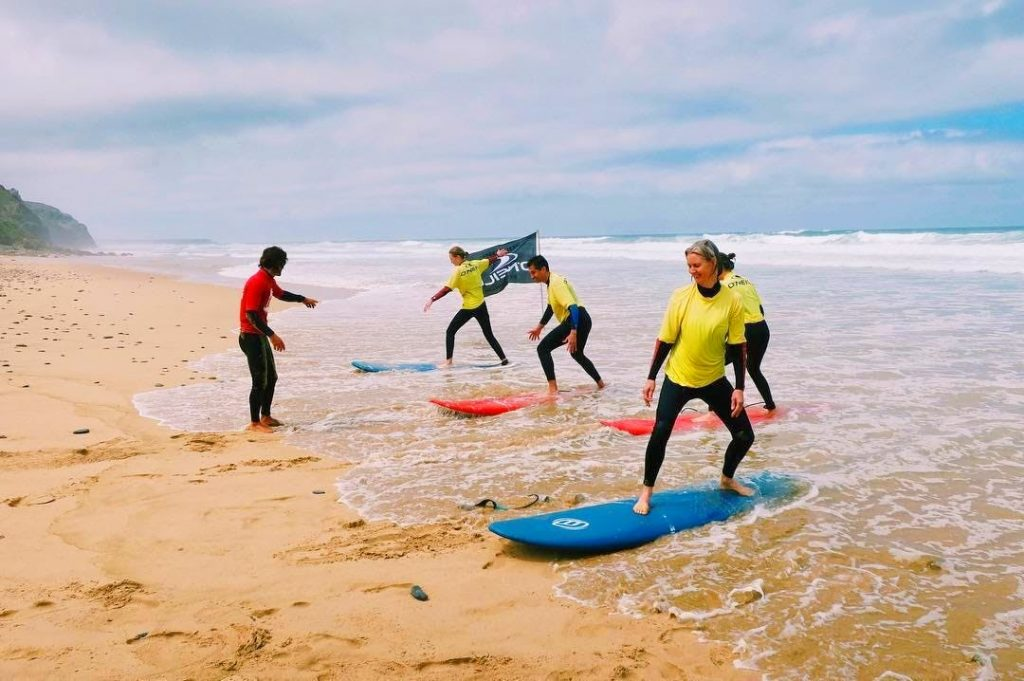 Why not choose the beautiful Monte Clérigo beach for surfing in Portugal?